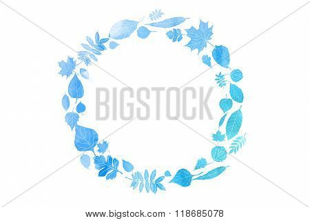 Vector Round Frame With Watercolor