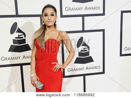Ariana Grande at the 58th GRAMMY Awards held at the Staples Center in Los Angeles, USA on February 15, 2016.