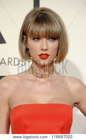 Taylor Swift at the 58th GRAMMY Awards held at the Staples Center in Los Angeles, USA on February 15, 2016.