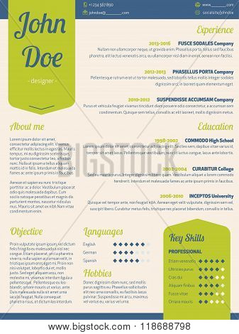 Modern Resume Cv With Green Ribbon