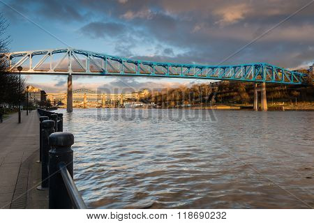 Metro Bridge Over The Tyne