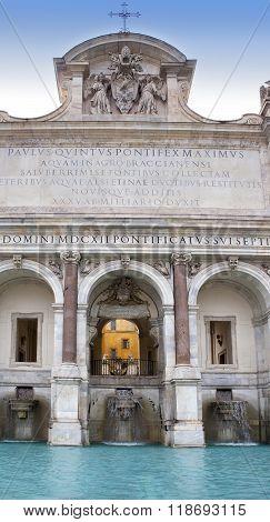 Fontana dell' Acqua Paola- Acqua Paola Fountain Gianicolo Rome Italy