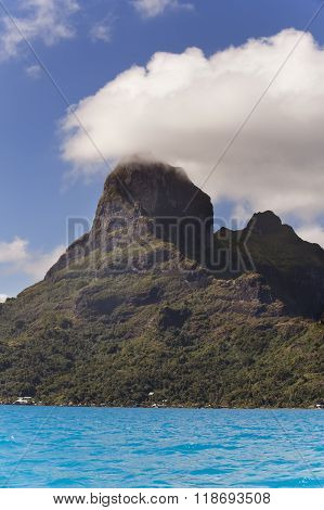 View of the Otemanu mountain and ocean. Bora Bora. Polynesia
