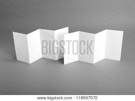 identity design corporate templates company style blank white folding paper flyer