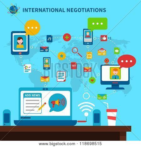 International Negotiations Illustration
