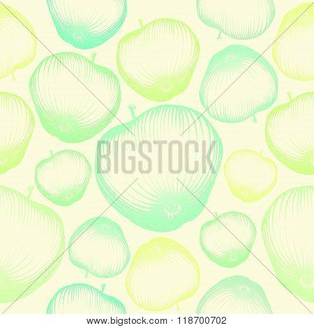 Apple fruit wallpaper seamless pattern