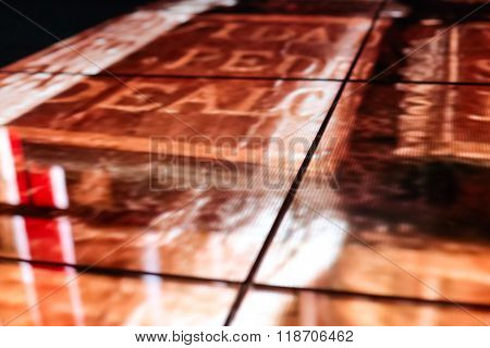 Led Floor Technology And Golden Pattern Electronic Reflection