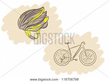 Helmet and bicycle