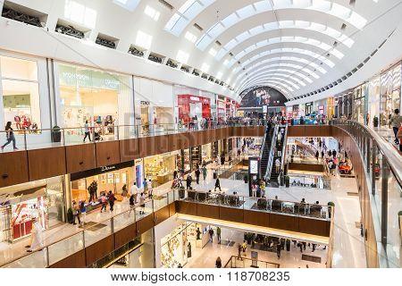 Shoppers In Dubai Mall, Uae