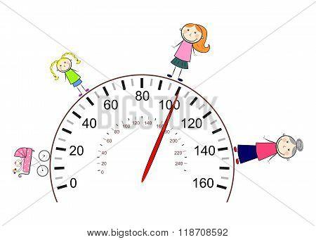 The Speedometer Woman
