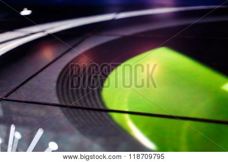 Led Floor Technology Bright Green Galaxy Electronic Reflection