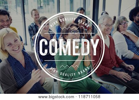 Comedy Fun Happiness Amusement Satire Cheerful Concept