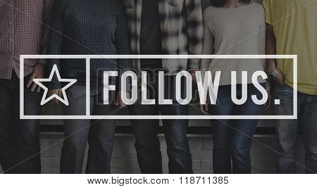 Follow us Share Follower Join us Concept