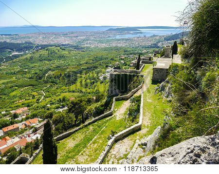 Kris fortress  City view Split Croatia