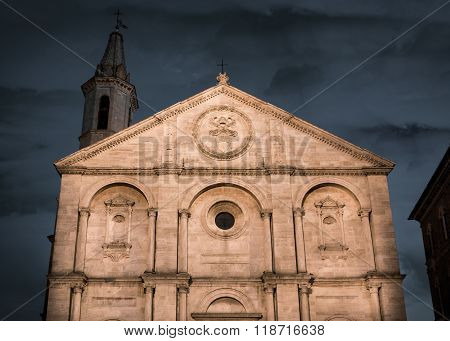 Tuscan Church In Pienza, Italy