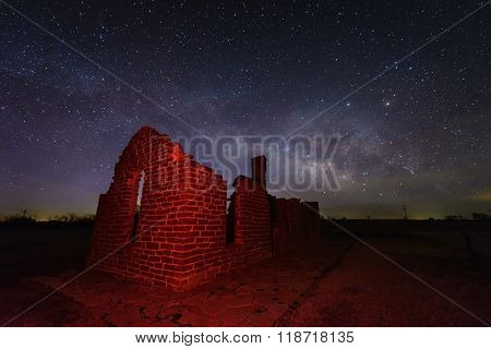 Milky Way At Fort Griffin, Texas Usa