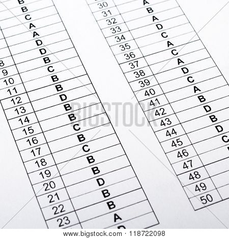 correct test answers