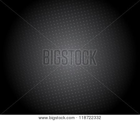 Abstract black background with halftone