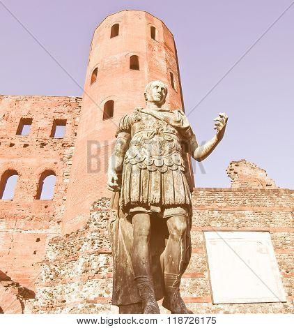 Roman Statue Of Augustus Vintage