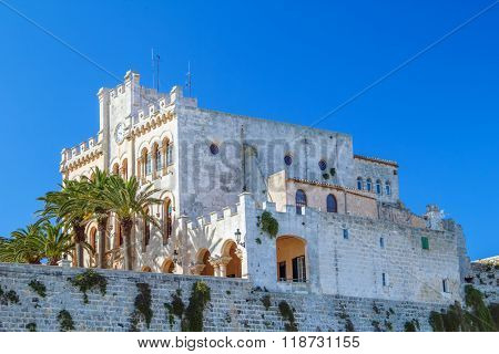 Former Town Hall at old town of Ciutadella,  Menorca, Balearic Isles, Spain