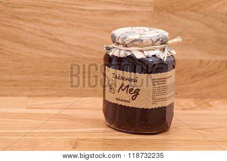 Wild taiga honey