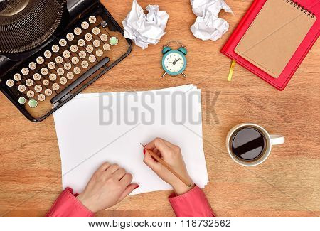 Author Hands Make Notes
