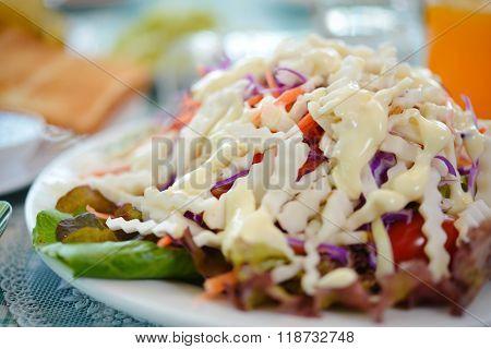 Helianthus Tuberosus Salad Healthy Breakfast For Weight Loss.