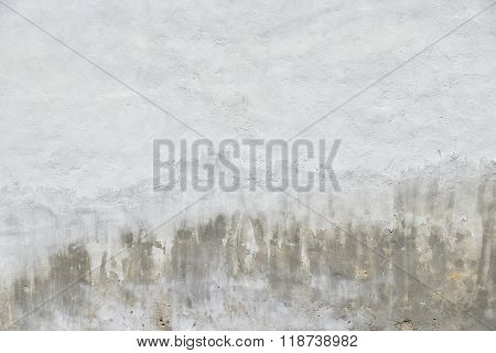 Old White And Grey Painted Concrete Wall With Weatherstains