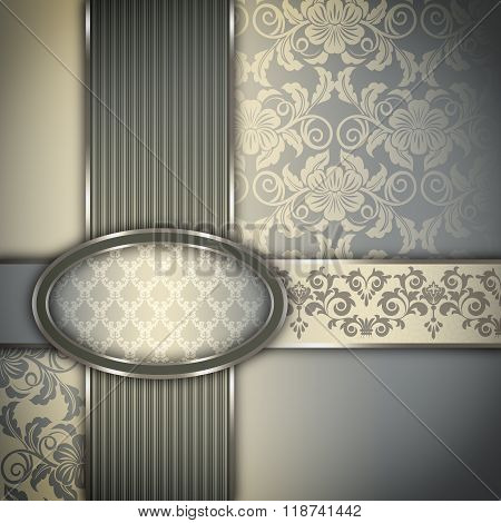 Decorative Background With Elegant Frame.