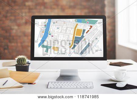 City Urban Blueprint Plan Infrastracture Concept