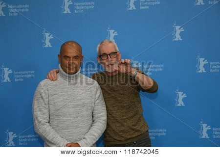 Lee Tamahori, Temuera Morrison attends the 'The Patriarch' (Mahana) photo call during the 66th Berlinale Film Festival Berlin at Grand Hyatt Hotel on February 13, 2016 in Berlin, Germany.