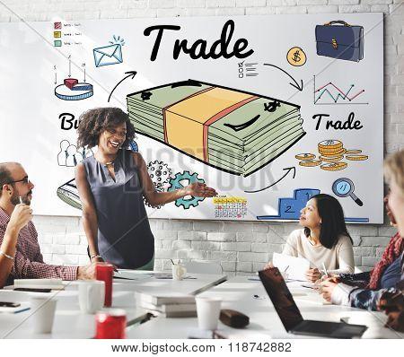 Trade Business Dealing Exchange Merchandise Swap Concept