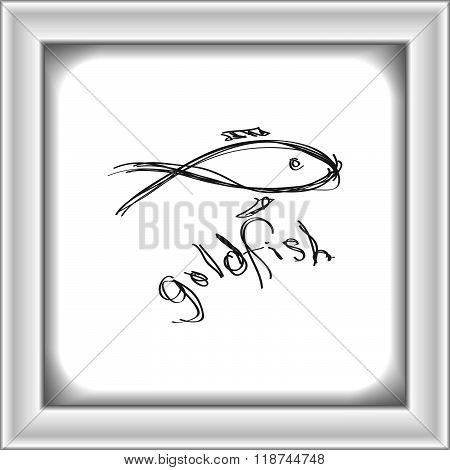 Simple Doodle Of A Goldfish