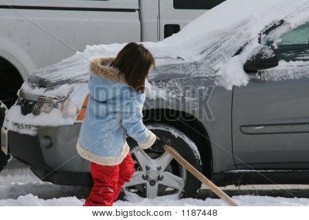 Shoveling Car Out