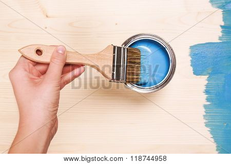 Smear of paint brush