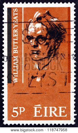 Postage Stamp Ireland 1965 William Butler Yeats, Poet