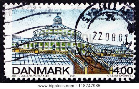 Postage Stamp Denmark 2001 Palm House, Botanical Gardens
