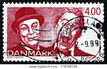 Postage Stamp Denmark 1999 Comedians And Singers