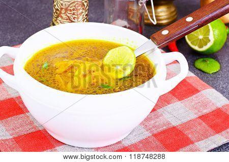Indian Onion Soup, Curry, Shili