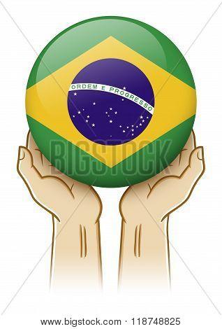 Pray For Brazil Illustration