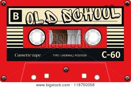 Vintage Tape Cassette With Name On It