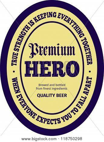 Courage Beer Label