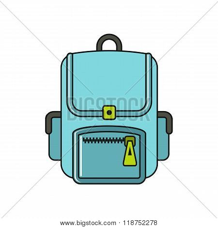 Bagpack cartoon icon isolated on a white background