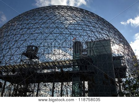 MONTREAL, QUEBEC -- MAY 29, 2015 -- The Biosphere, designed by R Buckminster Fuller in 1967, boasts itself the only museum in North America dedicated to the environment, meteorology, climate, water and air quality.