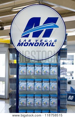 Las Vegas Monorail Sign And Logo