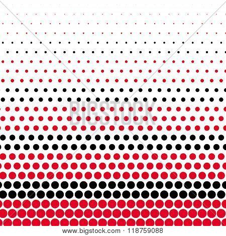 Cadmium red and black polka dot on white background