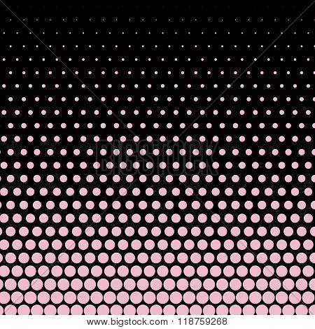 Cameo pink polka dot on black background
