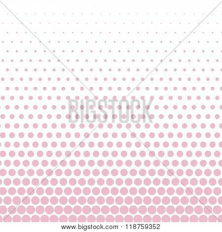 Cameo pink polka dot on white background