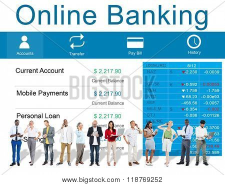 Online Banking Technology E-commerce Commercial Concept