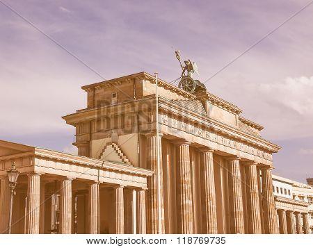 Brandenburger Tor Berlin Vintage